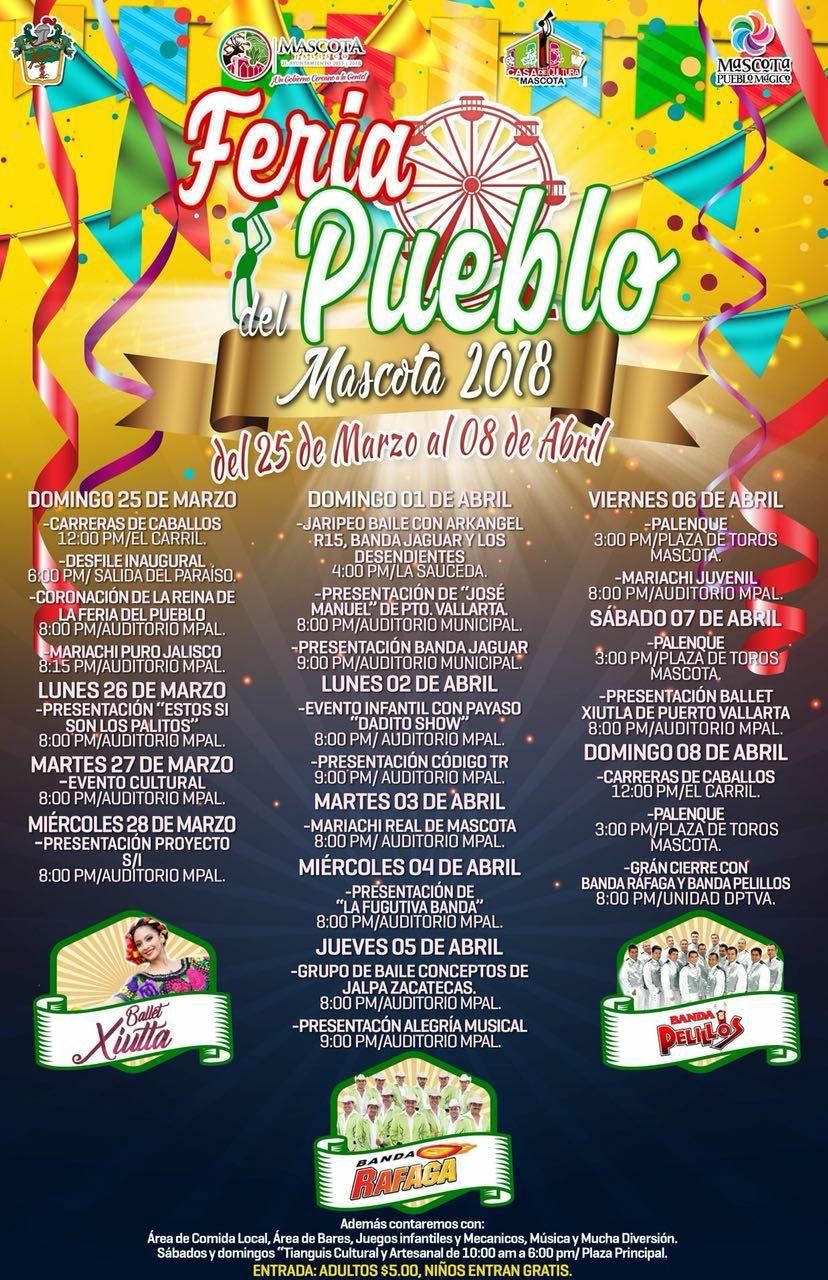 Ven a la Feria del Pueblo Mascota 2018
